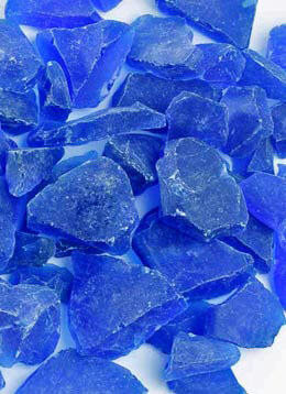 Dark Blue Beach Glass 3 lbs