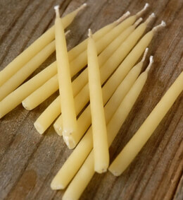 Beeswax Birthday Candles (12 candles)