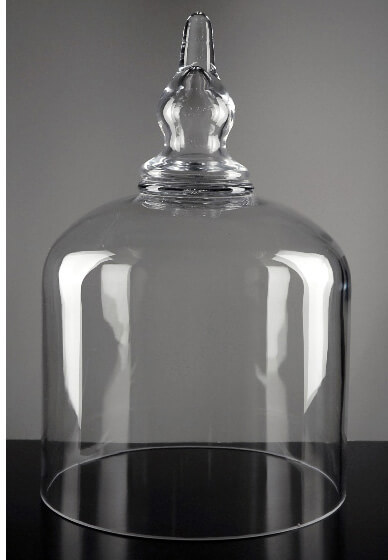 "Bell Jars Large 14"" Glass Cloche Bell Jar"