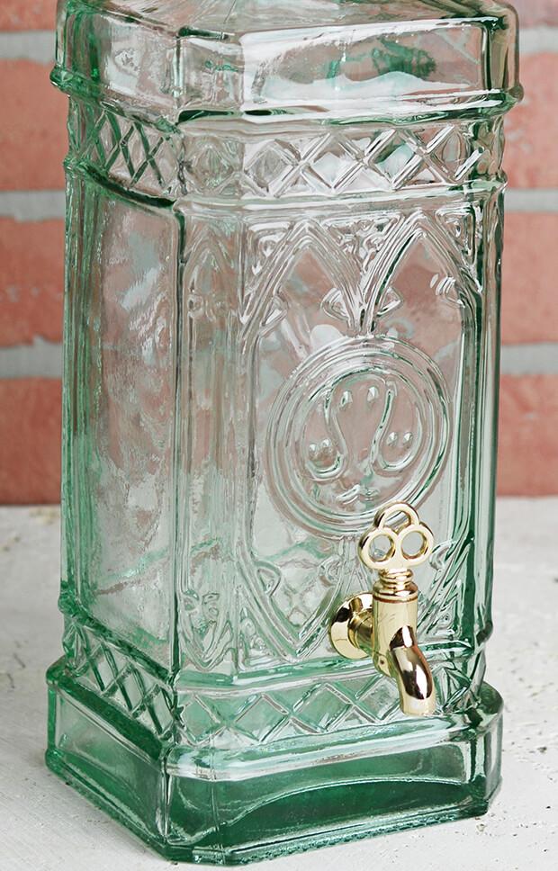 18in Glass Bottle Beverage Dispenser