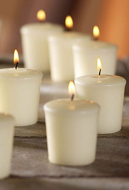 9 Ivory Unscented Votive Candles 15hr