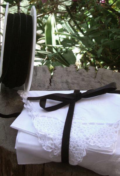 """Black Velvet SF Ribbon  3/8"""" x 33yds"""