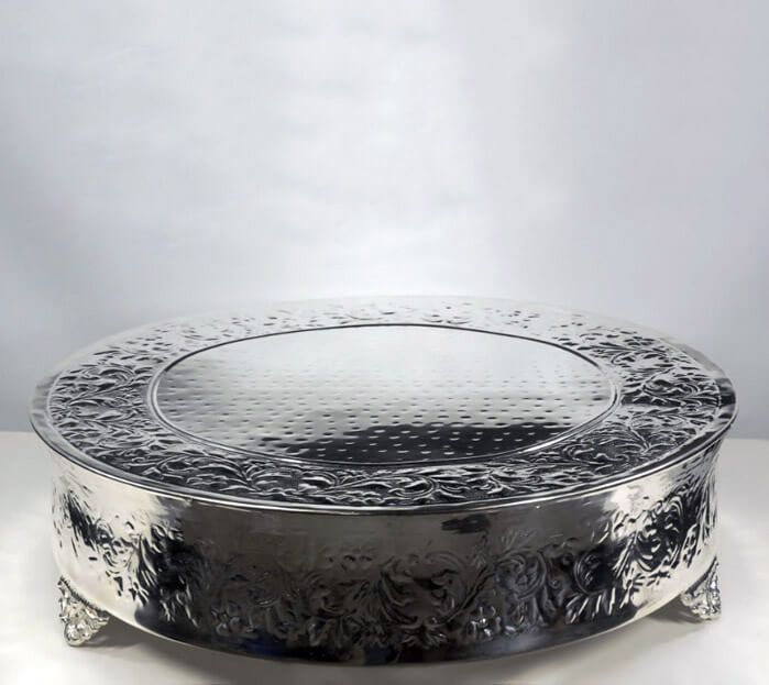 Wedding Cake Plateau Silver Plate 22in