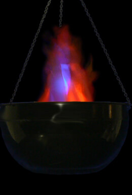 Halloween Cauldron Flame Light LED Battery Operated Simulated Fire Burning Cauldron