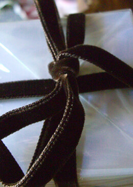 Brown Italian DF Velvet Ribbon  3/8in x 11.5ft