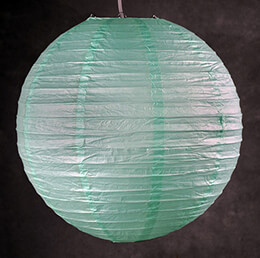 "20"" ROBINS EGG BLUE Paper Lanterns"
