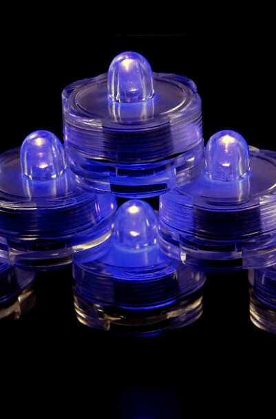 12 Submersible LED Lights Purple 1""