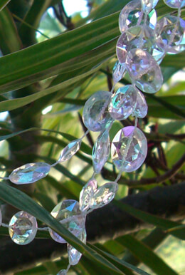 Iridescent Round Crystals Garlands 66 Feet