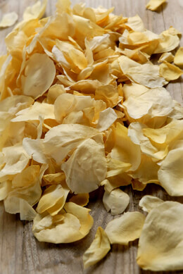 Soft Freeze Dried Yellow Sun Kissed Rose Petals 5 Cups