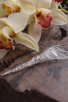 Hand Crafted Wire Boutonniere Holder