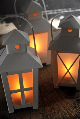 "12 Battery Operated 6"" Lanterns White"