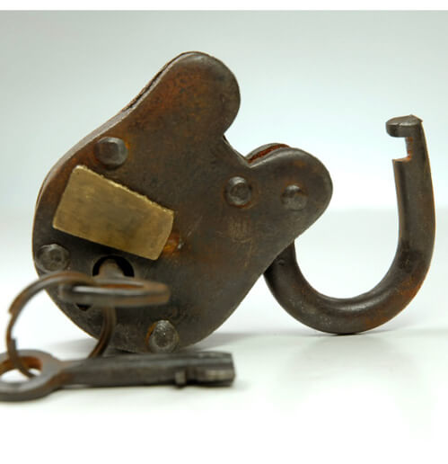 Antique Padlock with Keys