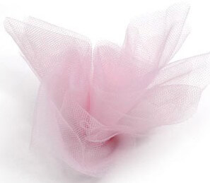 Pink Tulle Netting 6in wide ( 25 yards/ spool)