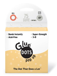 Pop Up Dots, 75-Clear Dots/Roll