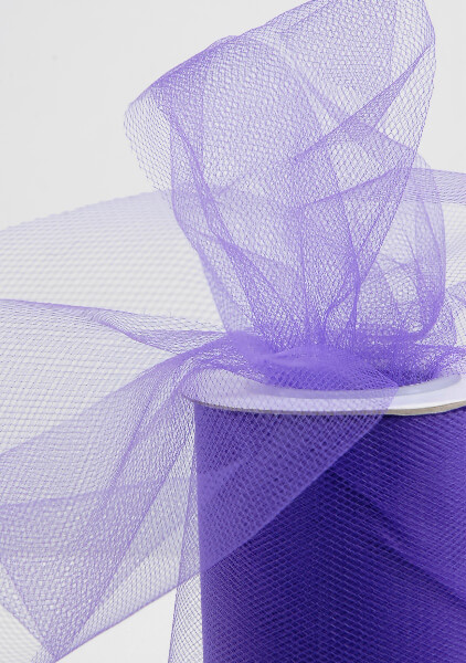 Purple Tulle Netting 6in wide ( 25 yards/ spool)