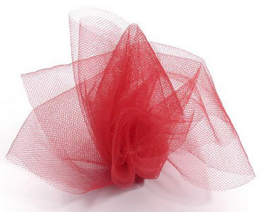 Red Tulle Netting 6in wide ( 25 yards/ spool)