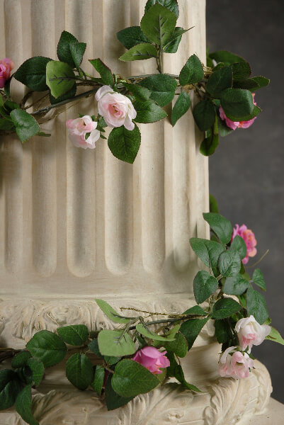 Rose Garlands w/  Miniature Pink & Beauty Red Roses  6'