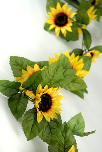 Silk Sunflower Garlands 6'
