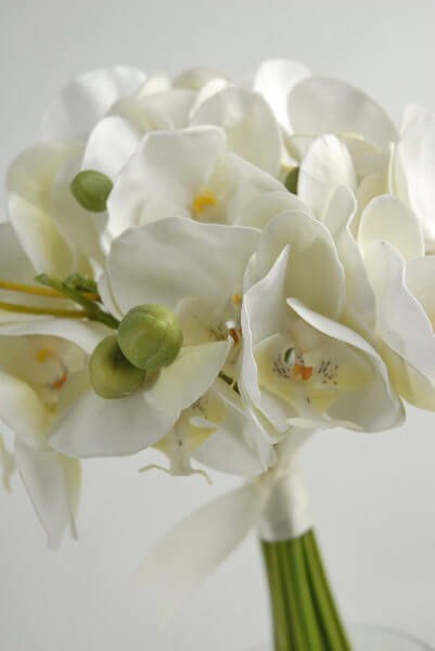 Silk Wedding Bouquets Orchid  Bridal 10in Bouquet
