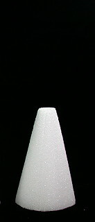 "Styrofoam Cones 6"" x 3""  White - 24 Pieces"