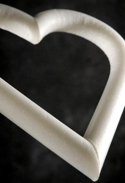Styrofoam Heart Wreaths 12 in