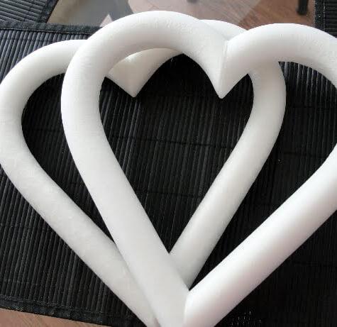 Styrofoam Heart Wreaths 9 in