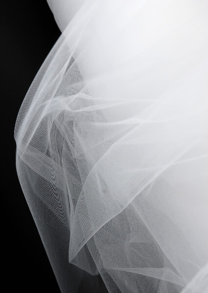 "108"" Wide Tulle Bridal Illusion White 50 yards (.99 /yard)"