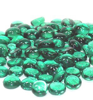 Vase Gems Teal Green (3/4 lb./pkg)