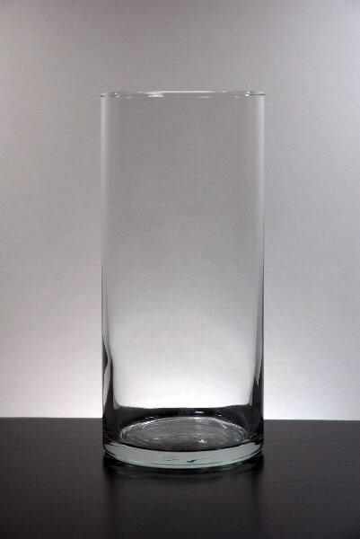 Clear Glass Cylinder Vase 7.5in