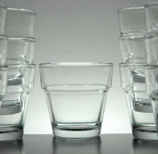 Flower Pot Glass Votive Holders  2.5in (Pack of 24)