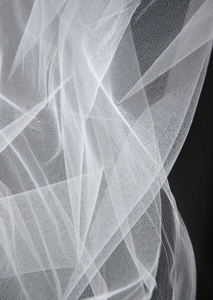 "54"" Wide Tulle Bridal Illusion White 50 yd (.68 yd)"