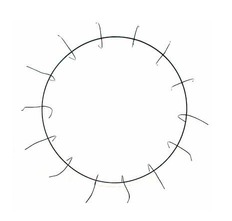Metal Clamp Wire Wreath Frames  (12 frames)