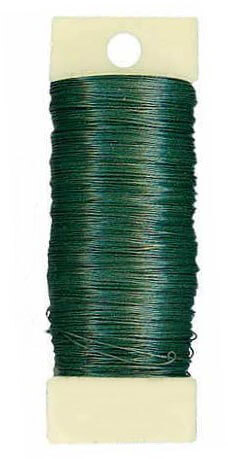 Floral Paddle Wire (painted green) 24 gauge 110 ft