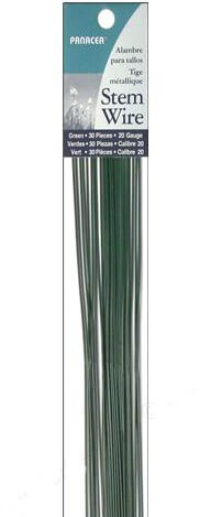 Panacea Florist Stem Wire 16 Gauge GREEN  (144 pieces)