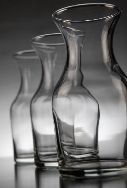 6 Ounce Glass Carafe Decanters