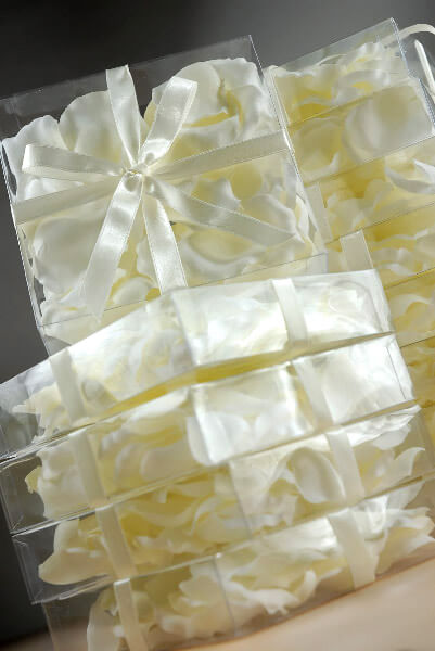 White Silk Rose Petals (Box of 60 petals)