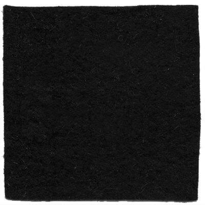 Felt Squares Black  24 pieces