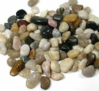 Polished Pebbles Assorted Colors (1.8 lb)