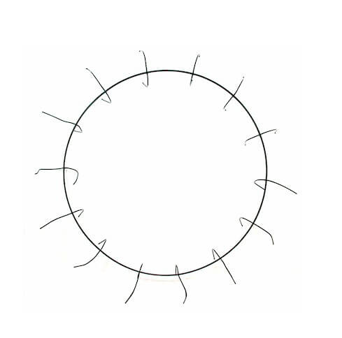 10in  Metal Clamp Style Wire Wreath Rings