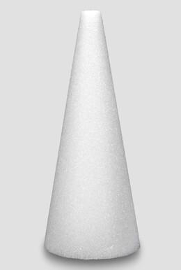 Styrofoam Cone 12 x 4 White