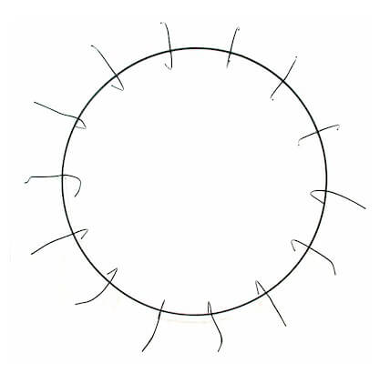 16in Clamp Style Wire Wreath Rings Frames  (Pack of 12)