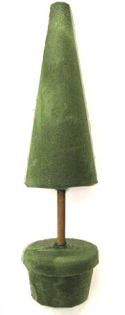 Floral Foam Topiary Cone Tree Form 21in