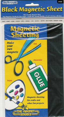 Flexible 5x8 Magnetic Vinyl Sheets  Black  (24 sheets)