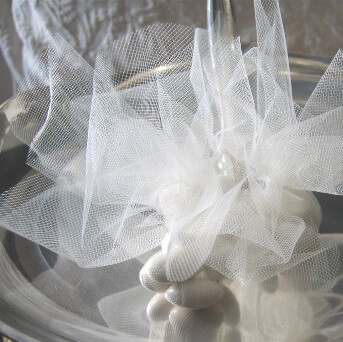 White Tulle Circles 10in (set of 25)