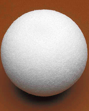 Styrofoam Balls 8in White