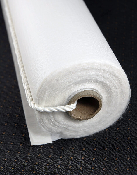 Aisle Runner, 150 ft Poly Linen White