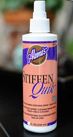 Aleene's Stiffen Quick Spray (Bow, Ribbon & Fabric Stiffener) 8 oz  $3.99 each / 3 for $3 each