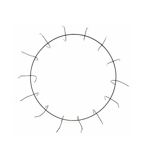 Clamp Style Wire Wreath Frames 8in  (pack of 12)