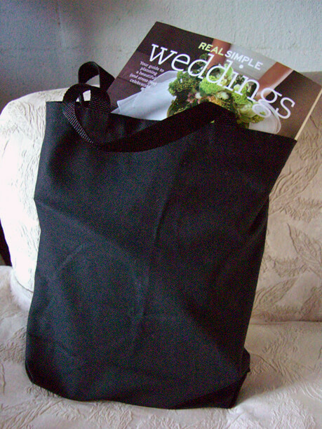 Black Canvas Tote Bags 14 x 9