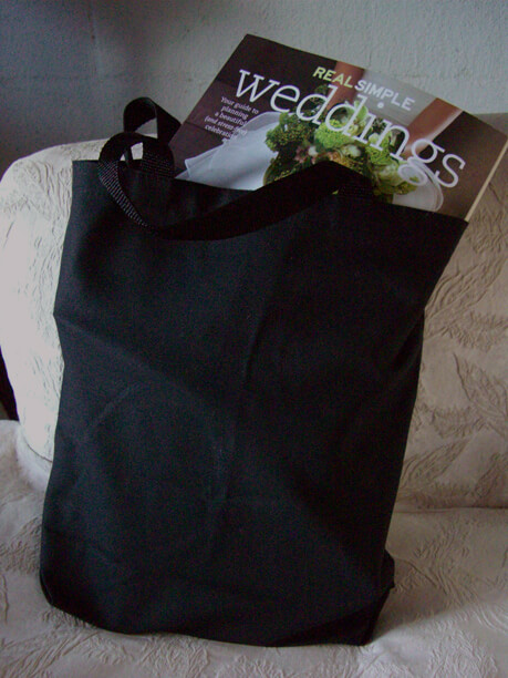 Cotton Canvas  Grocery Bags Black